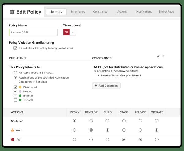 Créez des politiques personnalisées